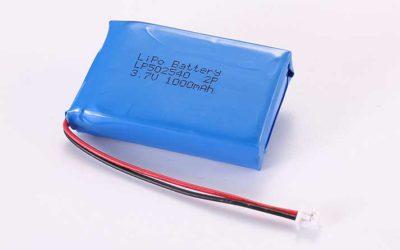 Lithium Polymer Akku LP502540 2P 3.7V 1000mAh 3.7Wh mit Schutzschaltung und Drähten 50mm und Molex 51021-0200