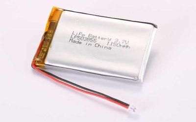 Lithium Polymer Akku LP503855 3.7V 1150mAh 4.26Wh mit Schutzschaltung und Drähten 50mm und Molex 51021-0200