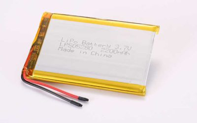Lithium Polymer Akku LP505280 3.7V 2200mAh 8.14Wh mit Schutzschaltung und Drähten 40mm