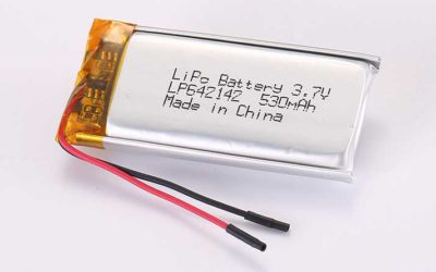Lithium Polymer Akkus LP642142 3.7V 530mAh 1.96Wh mit Schutzschaltung & Drähten 35mm