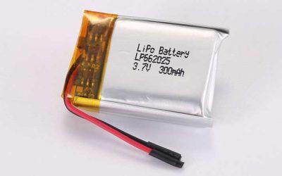 Lithium Polymer Akku LP662025 3.7V 300mAh 1.11Wh mit Schutzschaltung & Drähten 20mm