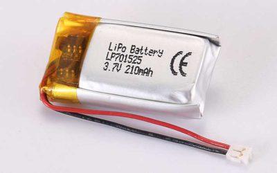 Lithium Polymer Akkus LP701525 3.7V 210mAh 0.78Wh mit Schutzschaltung & Drähten 50mm und JST ACHR-02V-S-B
