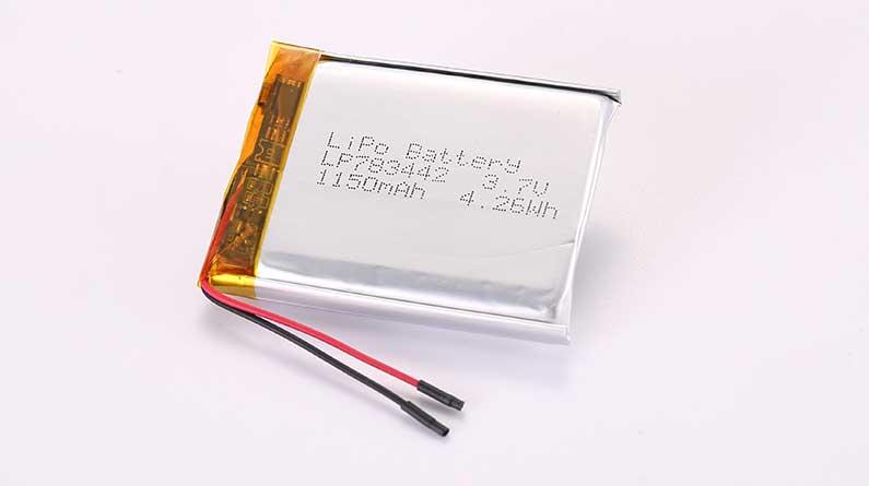 Lithium Polymer Akku LP783442 3.7V 1150mAh 4.26Wh mit Schutzschaltung & Drähten 30mm