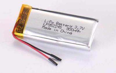 Lithium Polymer Akku LP952245 3.7V 900mAh 3.33Wh mit Schutzschaltung & Drähten 25mm